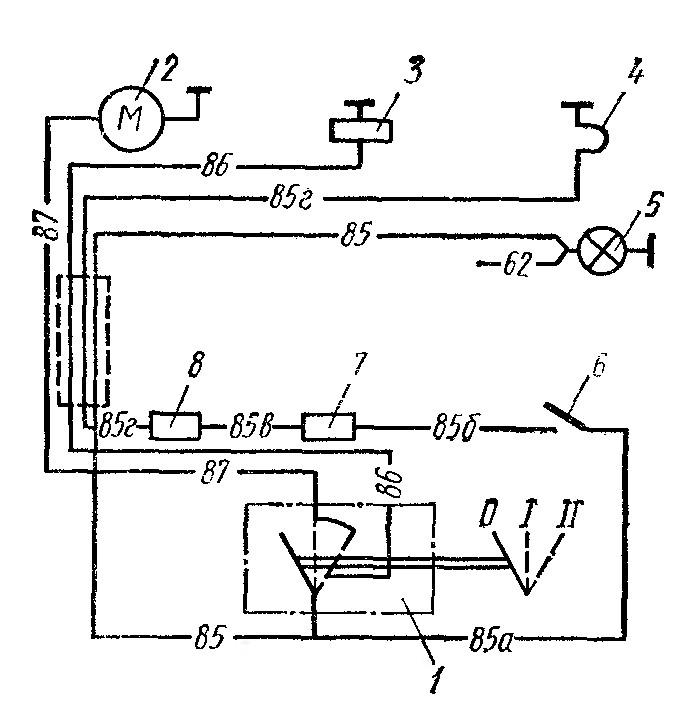 Схема пульта управления подогревателем