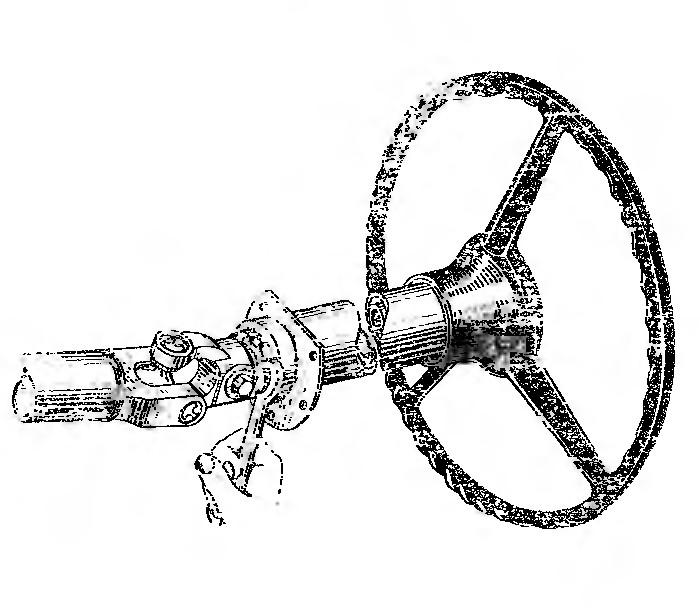 Рис. 57. Регулировка осевого зазора ЗИЛ-130.